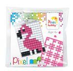 PIXEL Kit créatif porte-clé 4x3cm - Flamant rose
