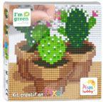PIXEL Kit créatif tableau 12x12cm - Cactus