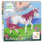 PIXEL Kit créatif tableau 12x12cm - Licorne