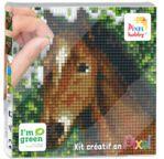 PIXEL Kit créatif tableau 12x12cm - Tête de cheval