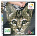 PIXEL Kit créatif tableau 12x12cm - Chat