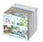 Pixel kubus (3xbasisplaat & 18 matjes) - Paarden / Horses