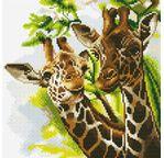 CRYSTAL ART Kit tableau broderie diamant 30x30cm Girafes