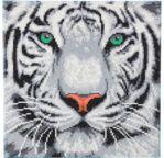 CRYSTAL ART Kit tableau broderie diamant 30x30cm Tigre des neiges