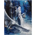 CRYSTAL ART Kit tableau broderie diamant 40x50cm Anne Stokes Messager