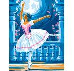 Peinture par N° débutant - Ballerine au clair de lune
