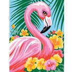 Painting by numbers - Flamingo