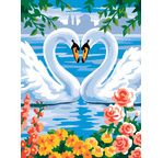 Painting by numbers - Swans