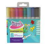 DIAM'S Set of 8 Shrinking films & plastic markers