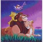 DISNEY Le Roi Lion tableau à diamanter 30x30cm Crystal Art