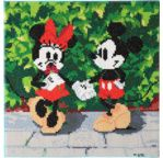 DISNEY Minnie & Mickey tableau à diamanter 30x30cm Crystal Art