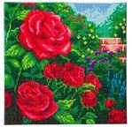 CRYSTAL ART Kit tableau broderie diamant 30x30cm T. Kinkade Roses