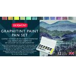 DERWENT - GRAPHITINT - palette 12 1/2godets graphite+pigments aquarel