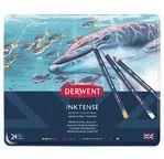 DERWENT - INKTENSE - boîte métal 24 crayons base encre aquarellables