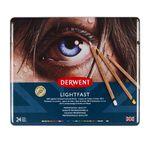 DERWENT - LIGHTFAST - boîte métal 24 crayons de couleur