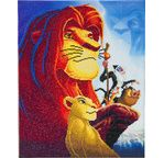 DISNEY Le Roi Lion tableau à diamanter 40x50cm Crystal Art