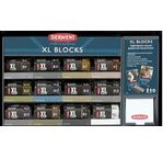DERWENT - XL BLOCS- gamme complète blocs XL CHARCOAL + GRAPHITE 2x6x4