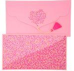 PAPERTREE EVA Enveloppe kdo 19x10cm Rose