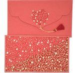 PAPERTREE EVA Enveloppe kdo 19x10cm Rouge
