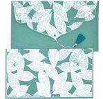 PAPERTREE TAMARA Gift envelope 19x10cm Peacock