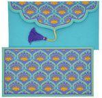 PAPERTREE BENGALI enveloppe cadeau 19x 10 cm Turquoise