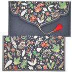 PAPERTREE WINTER Enveloppe cadeau 19x10cm Noir