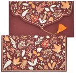 PAPERTREE WINTER Enveloppe cadeau 19x10cm Rouge bordeaux
