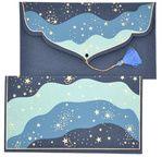 PAPERTREE STARDUST Enveloppe cadeau 19x10cm Bleu