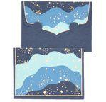 PAPERTREE STARDUST Mini Env. Message + carte 8,5x6cm Bleu