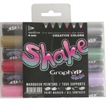 GRAPH'IT SHAKE Set de 6 Marqueurs Medium - Creative