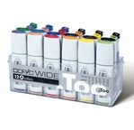 COPIC Wide 12 markers + 12 spare ink cartridges; Set A