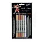 "Set COPIC CIAO ""5+1"" 5 couleurs Manga 4 + 1 Multiliner"