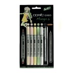 "Set COPIC CIAO ""5+1"" 5 couleurs Manga 6 + 1 Multiliner"