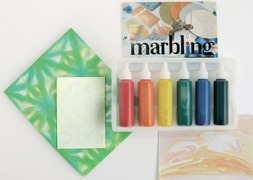 Marbling & aquarelle