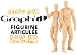 Poseable Figurine for drawing Body Kun & Body Chan