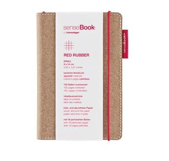 senseBook Red Rubber M liniert