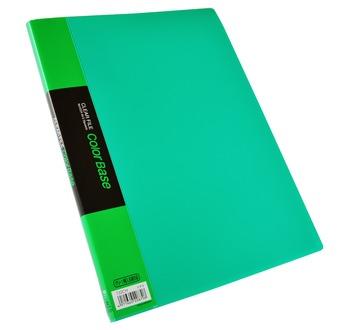 CLEAR FILE colour BASE A4  Vert, 10 pochettes