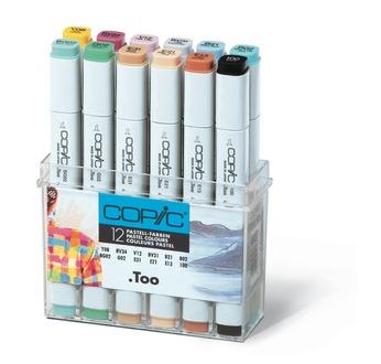 Set COPIC MARKER - 12 couleur Pastel