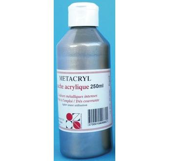 METACRYL Metallic acrylic paint - 250 ml - Silver