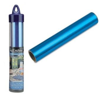 Feuille Alu. teinté Bleu 1,5 m