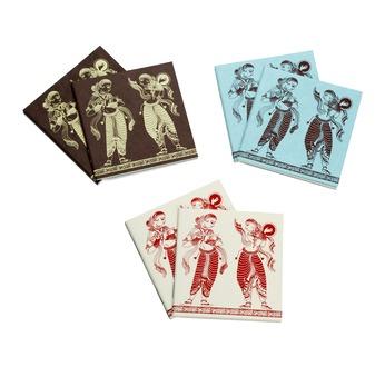 PAPERTREE APSARA Carnet poche format carré10x10cm-lot de 6 ass.