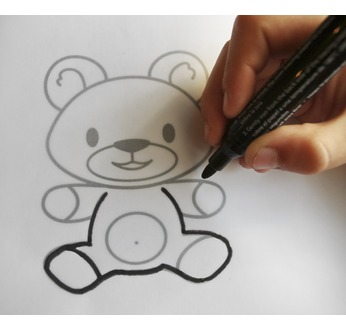 DIAM'S Black transfer fabric pen