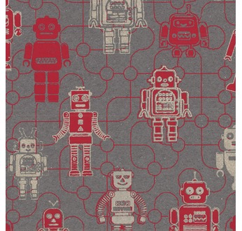 PAPERTREE 50*70 100g ROBOT Rouge/ Or