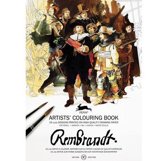 PEPIN Livre à colorier pour artiste 25x34,5cm Rembrandt  pp 12,95€