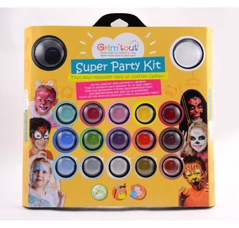 SUPER PARTY Kit 17 couleurs GRIM'TOUT