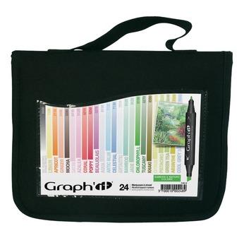 GRAPH'IT Trousse 24 marqueurs - GARDEN/JARDIN