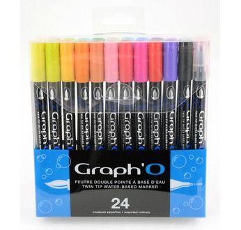 GRAPH'O Set de 24 couleurs Essentielles