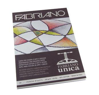 FABRIANO UNICA-Bloc21x29,7-250 gsm-blanc-20 feuilles