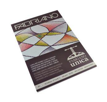FABRIANO UNICA-Bloc 29,7x42-250 gsm-blanc-20 feuilles