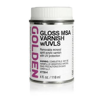 Vernis MSA brillant  119 ml (à base d?essence minérale)